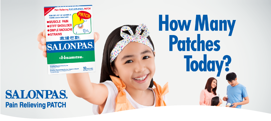 How Many Patches Today? SALONPAS® Pain Relieving PATCH
